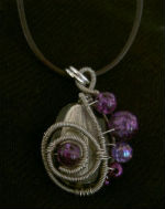 Grey and Purple Pendant